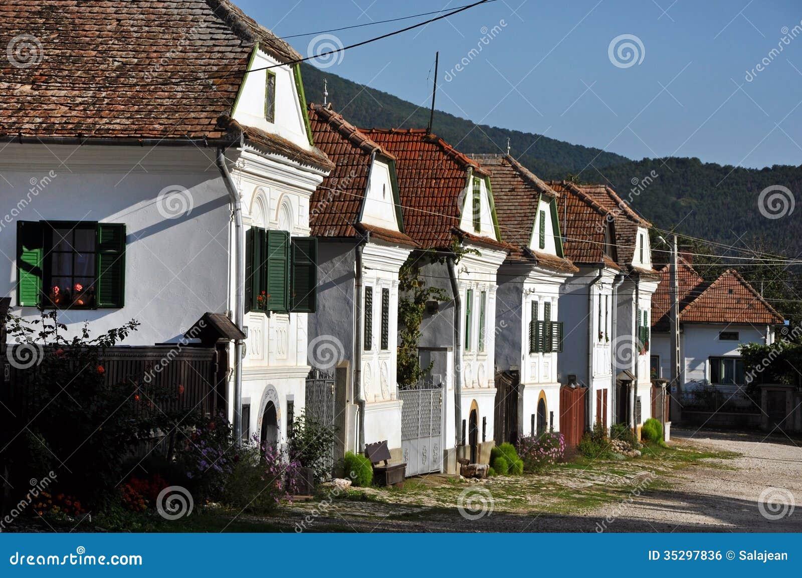 Whitewashed Houses In Torocko Rimetea Village Romania Stock Photo Image 35297836