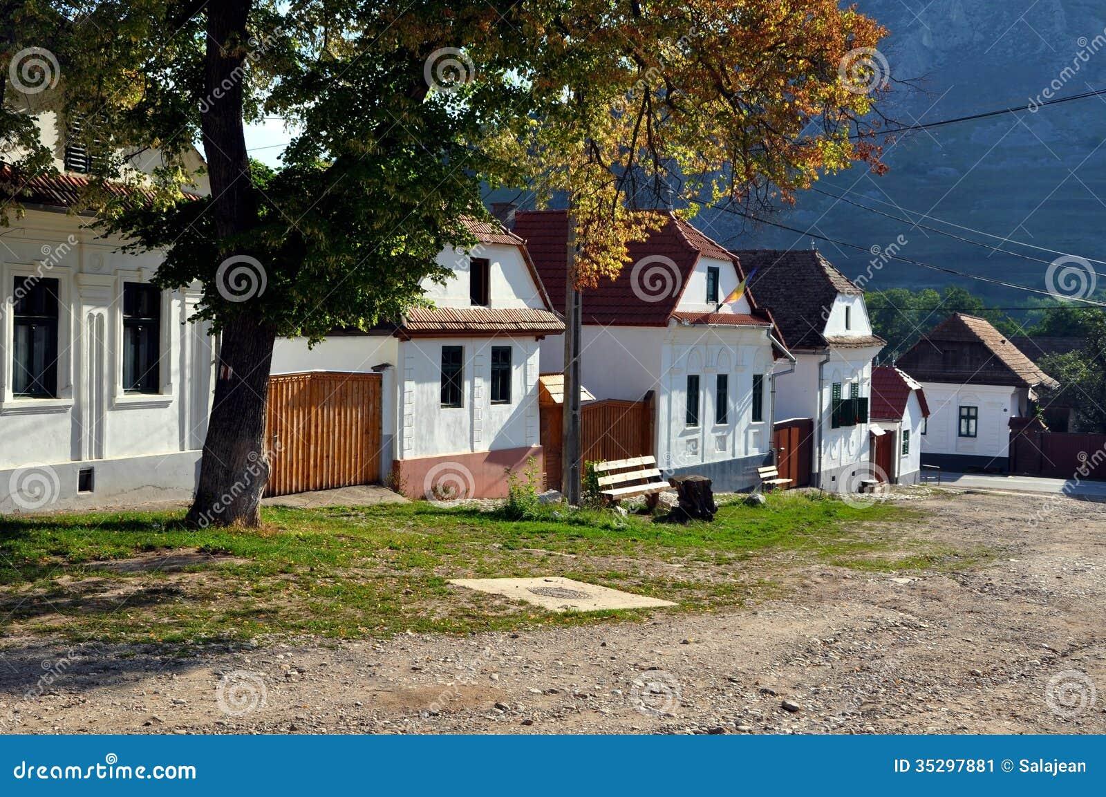 Whitewashed Houses In Torocko Rimetea Village Romania Stock Image Image 35297881
