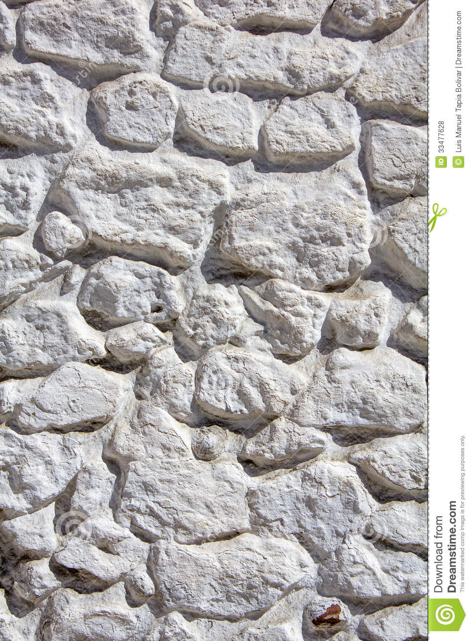 Whitewashed Stone Wall Royalty Free Stock Photos Image