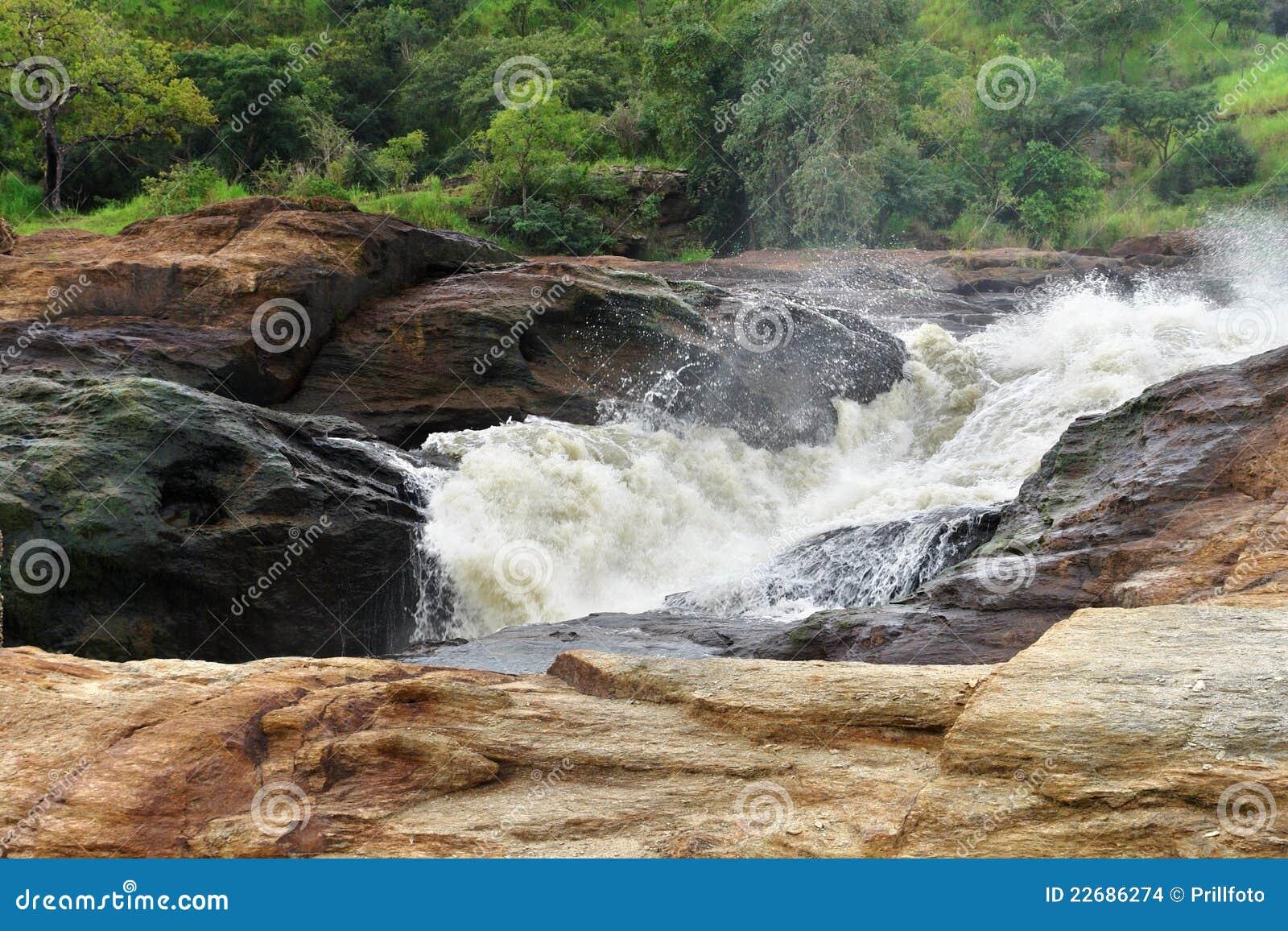 Whitewater en las caídas de Murchison