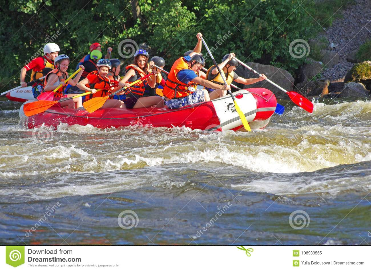 Whitewater rafting editorial image  Image of outdoors - 108933565