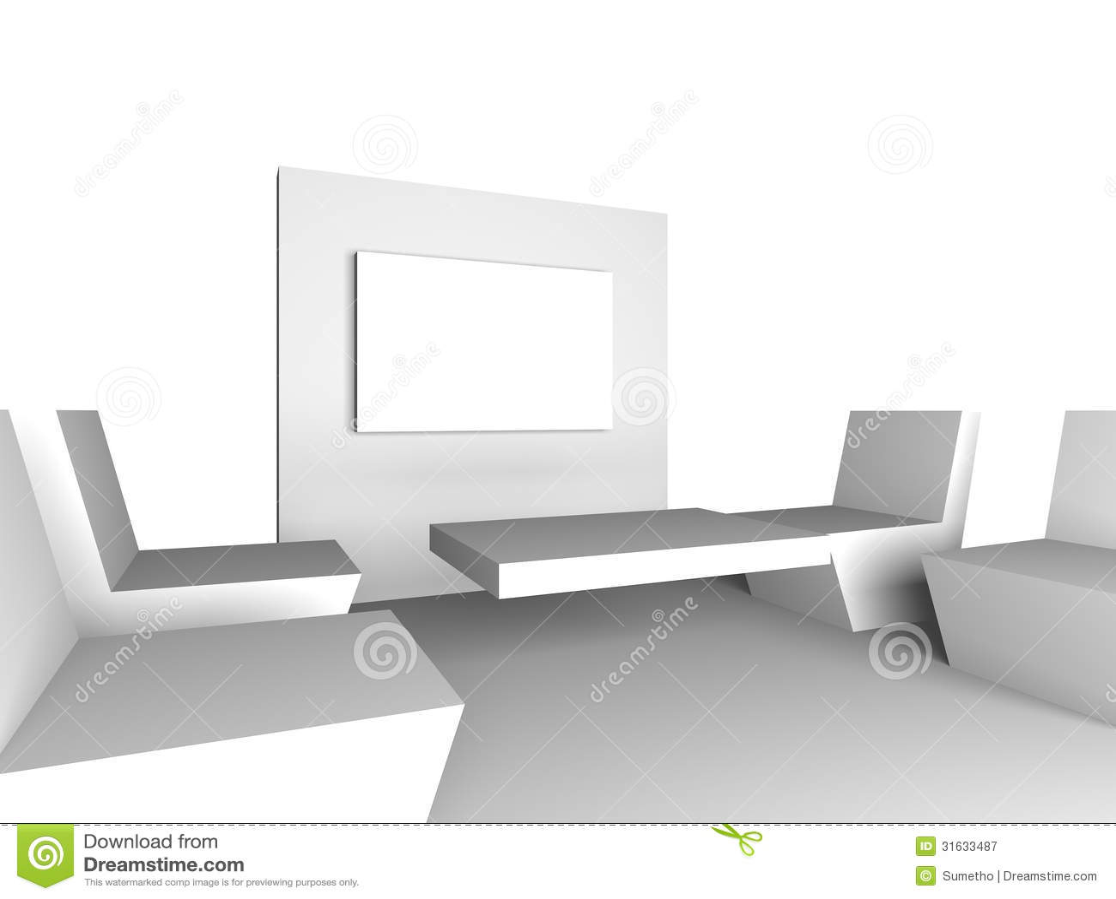 Interior design minimalist meeting room