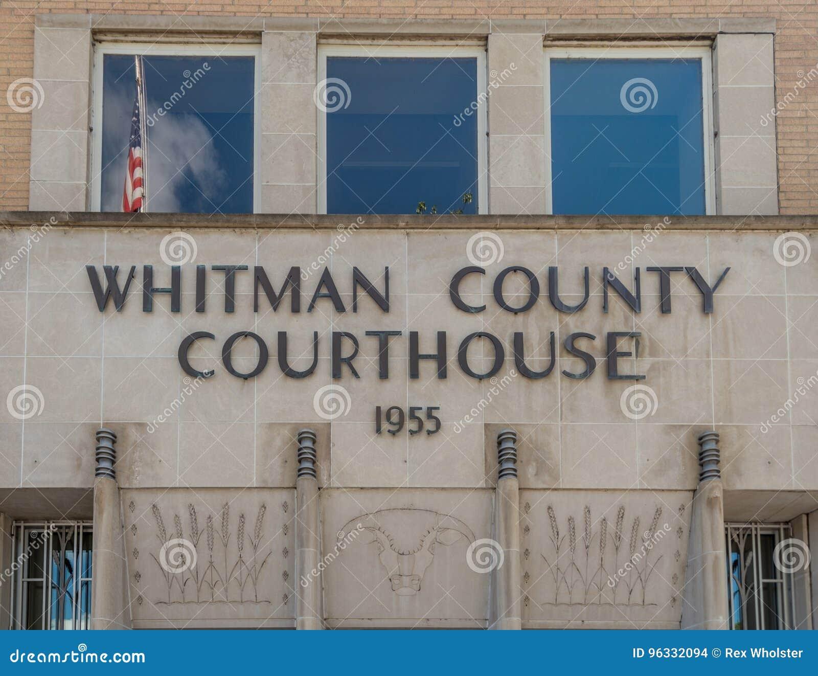 Whitman okręgu administracyjnego gmach sądu z flaga