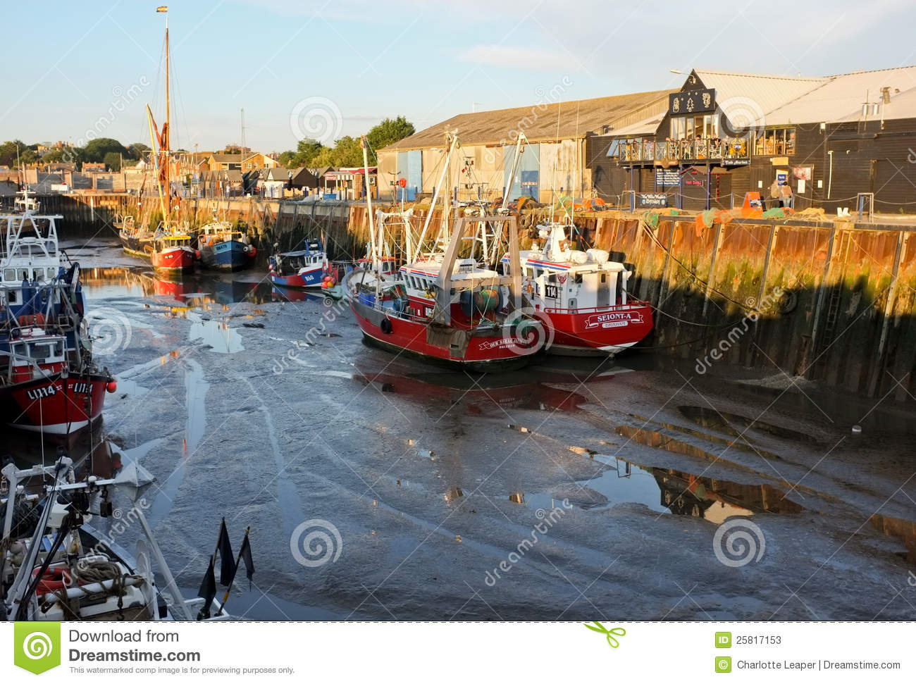 Whitstable Harbour & Fishing Boats, Kent, England