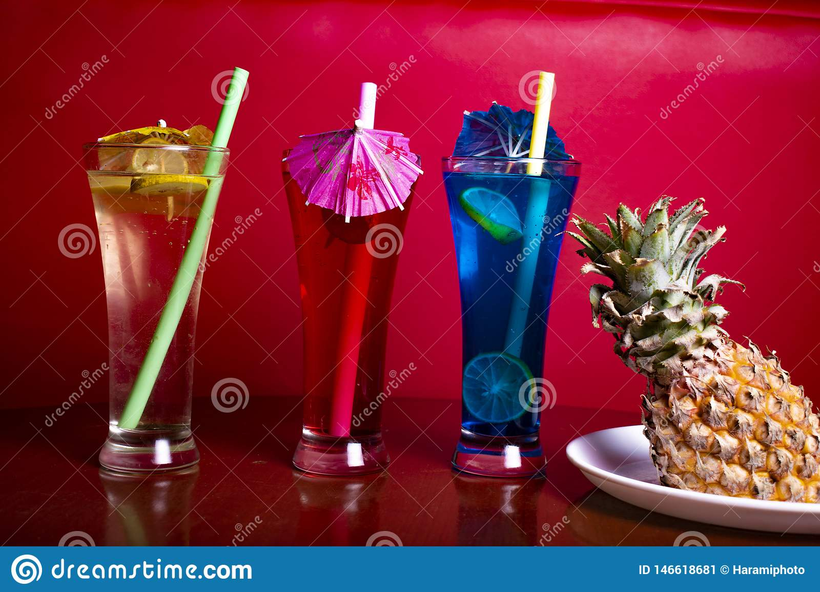 Mocktail in perfect red background with awesome color