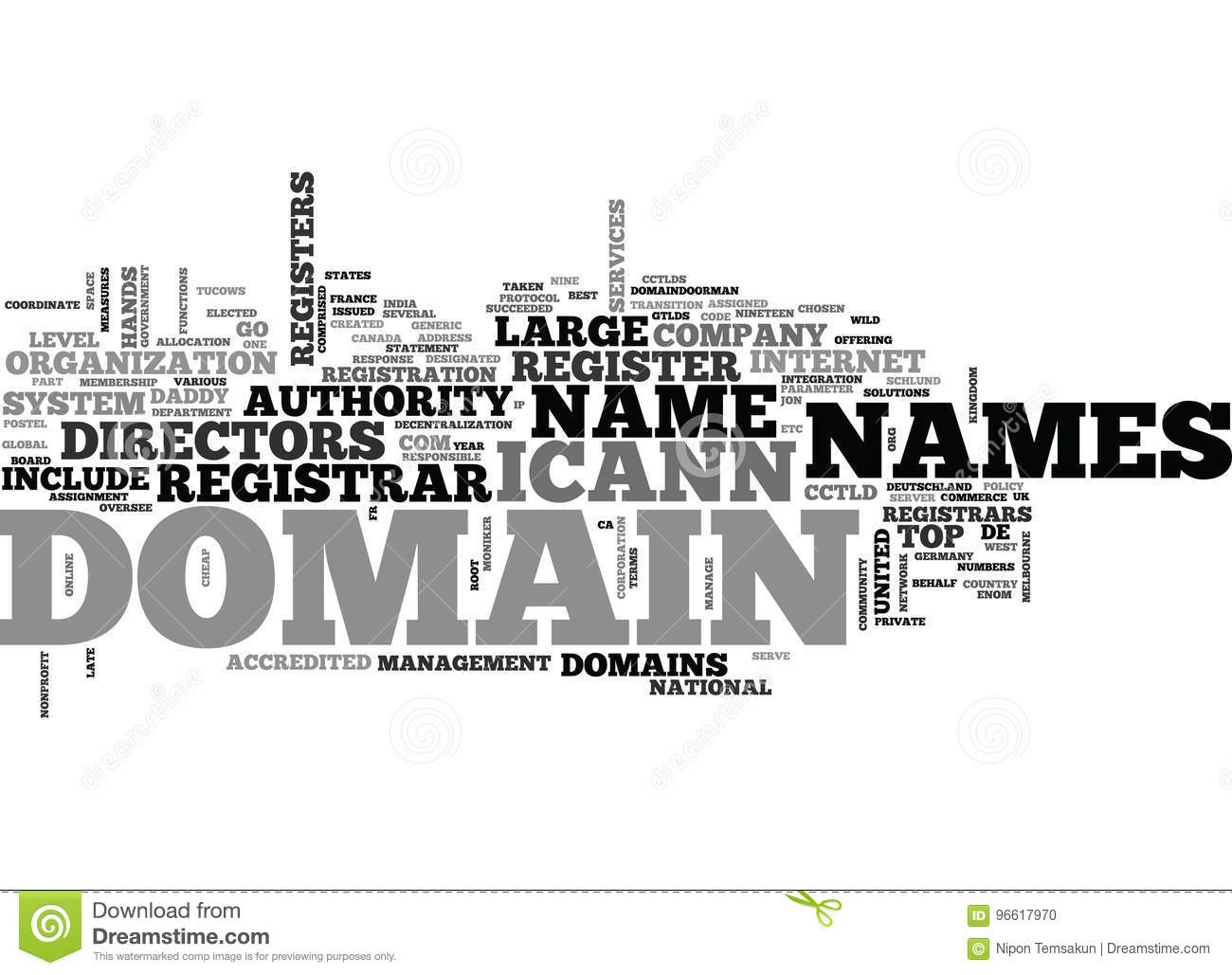 Who Registers Domain Namesword Cloud Stock Illustration