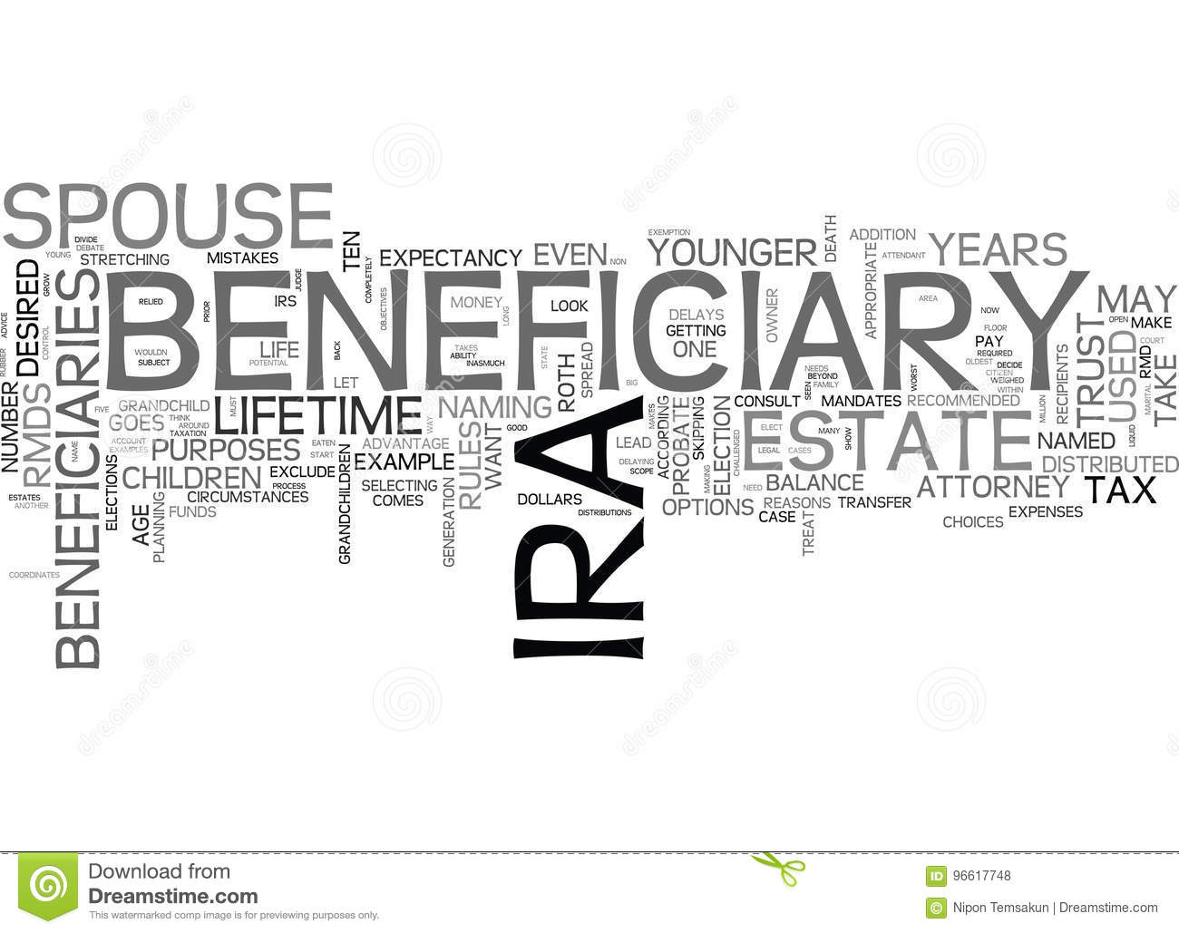 The beneficiary is who what the word means and where it came from 45