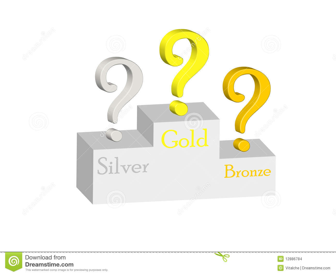 who wins stock vector illustration of asking dimensional 12886784