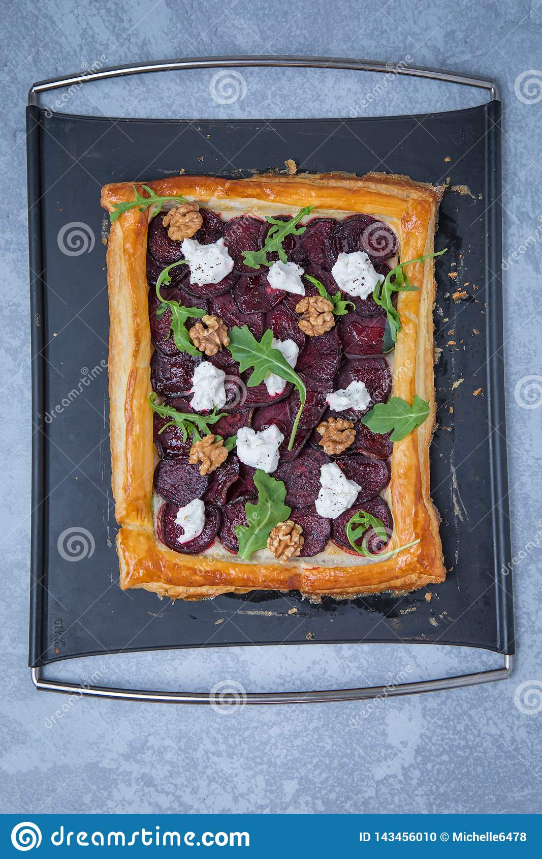 Whole Cooked Beetroot Tart