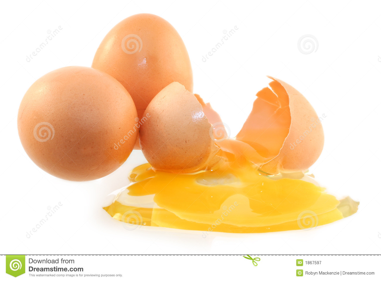 Whole And Cracked Eggs Royalty Free Stock Photography - Image: 1867597