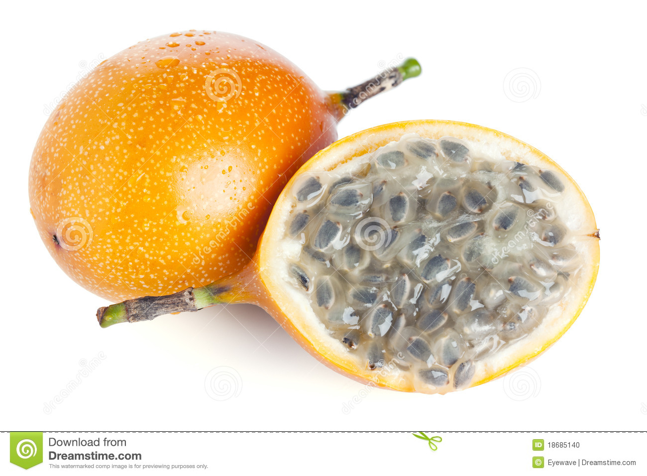 More similar stock images of ` Whole and half grenadilla passion fruit ...