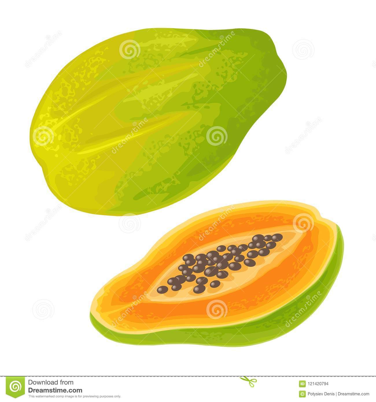 Papaya Images To Color