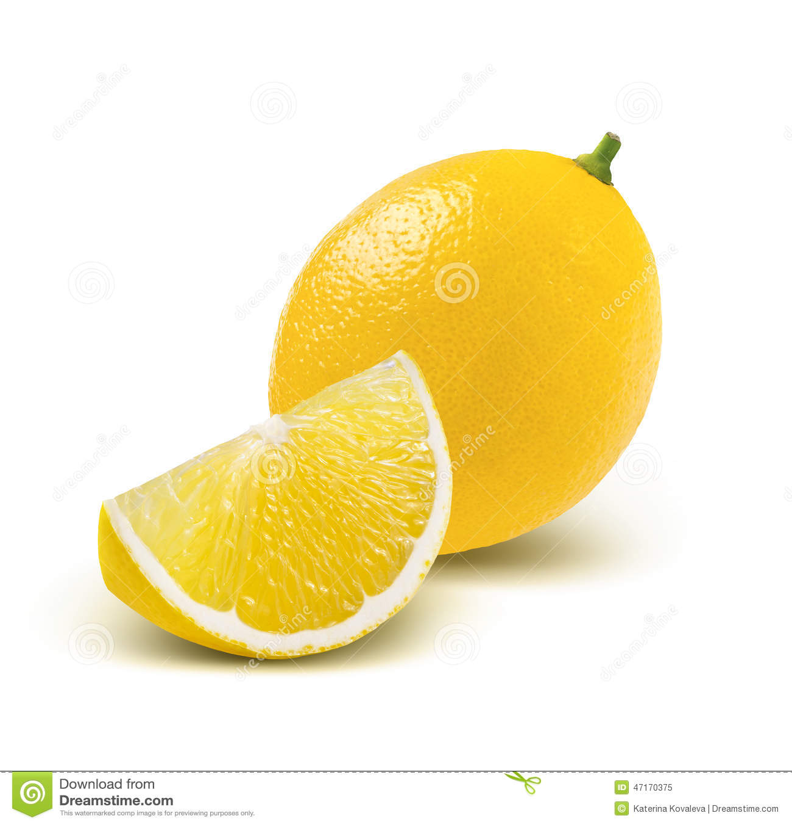 Whole lemon and quarter Quarter Lemon