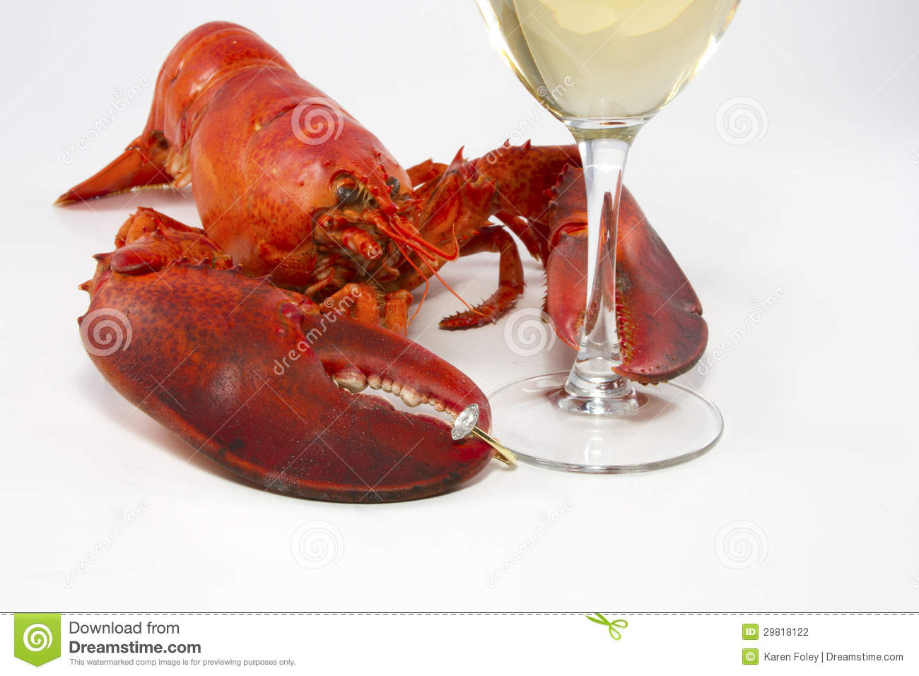 Romantic Lobster Dinner Stock Photography - Image: 29818122