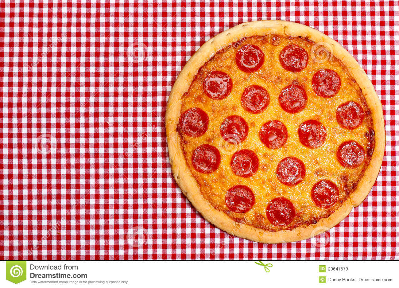 Whole Pepperoni Pizza Royalty Free Stock Images - Image ...