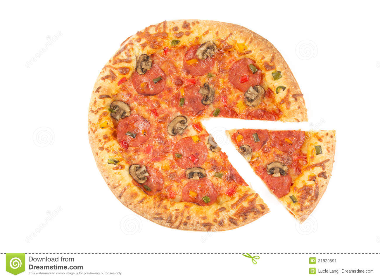 Whole Pizza Top View W...