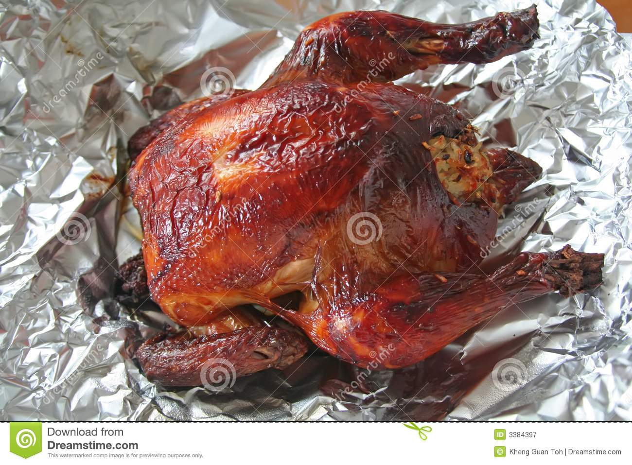 Whole Roast Chicken Royalty Free Stock Photography - Image: 3384397