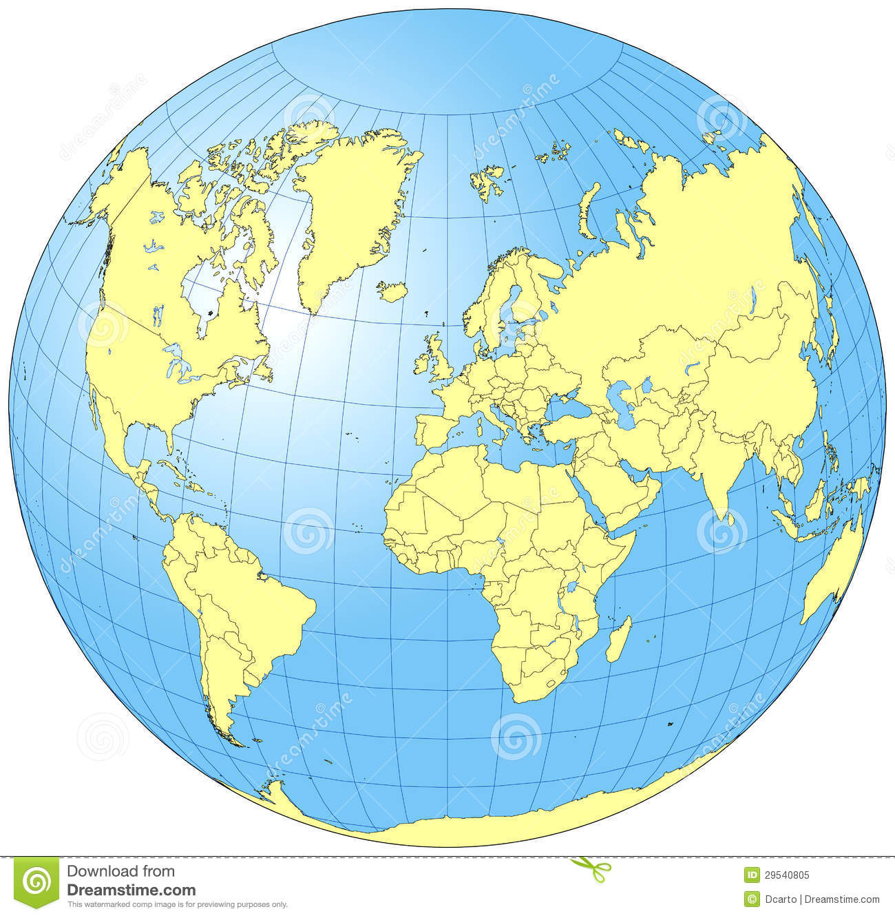 Whole World Globe Illustration 29540805 Megapixl