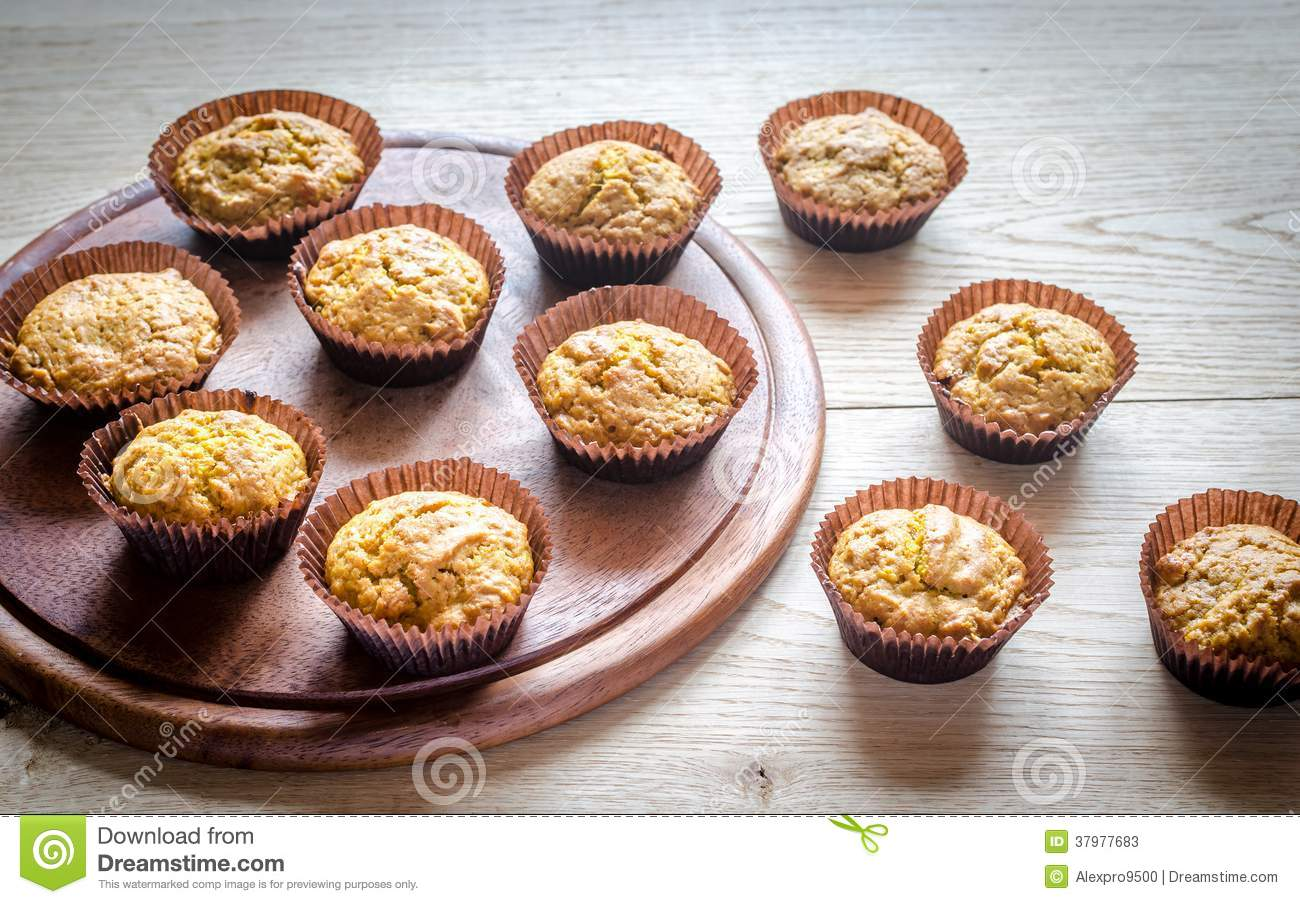 Wholewheat Pumpkin Muffins With Raisins Stock Photos - Image: 37977683