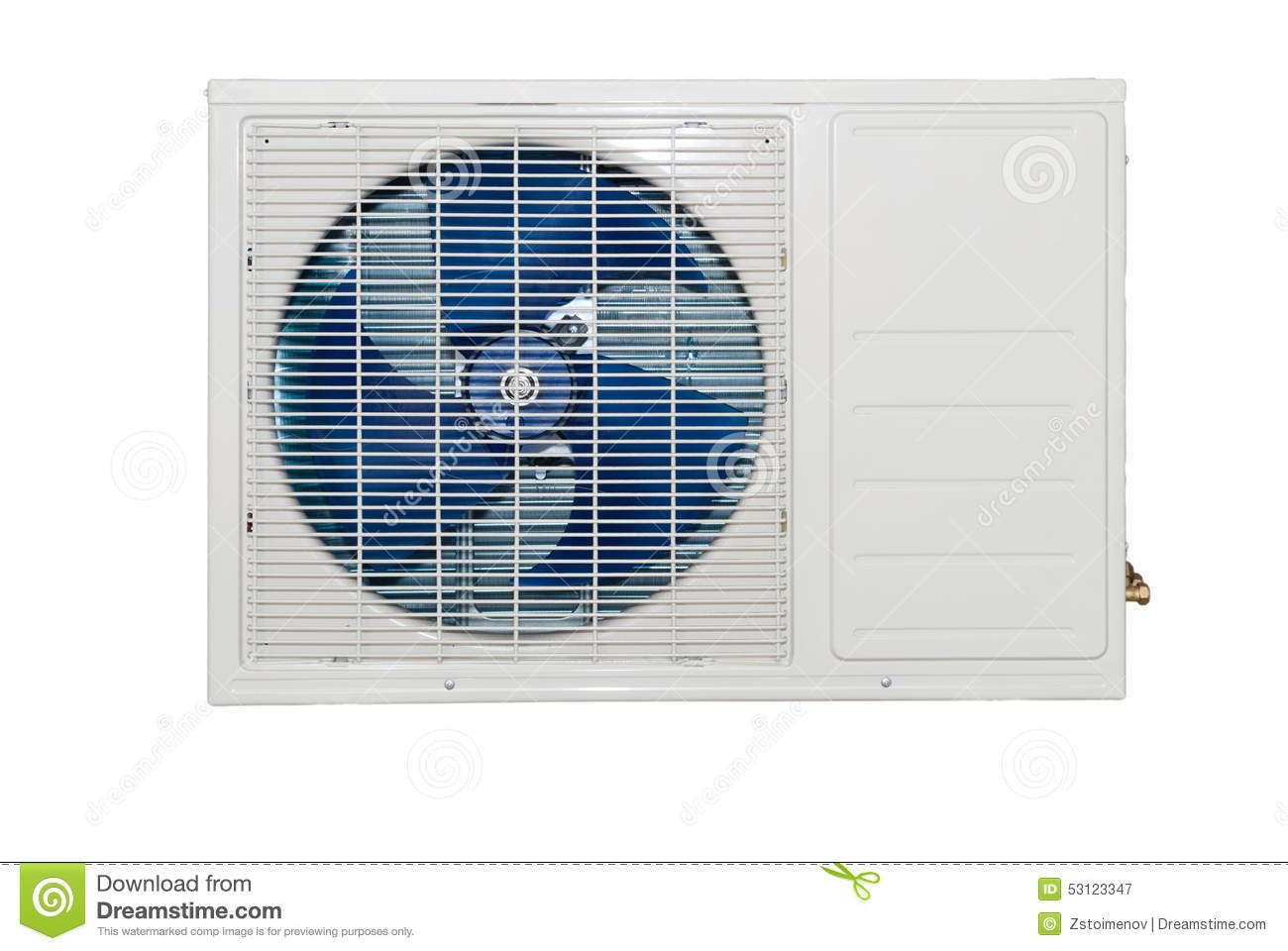whote air conditioner external compressor stock image - image of
