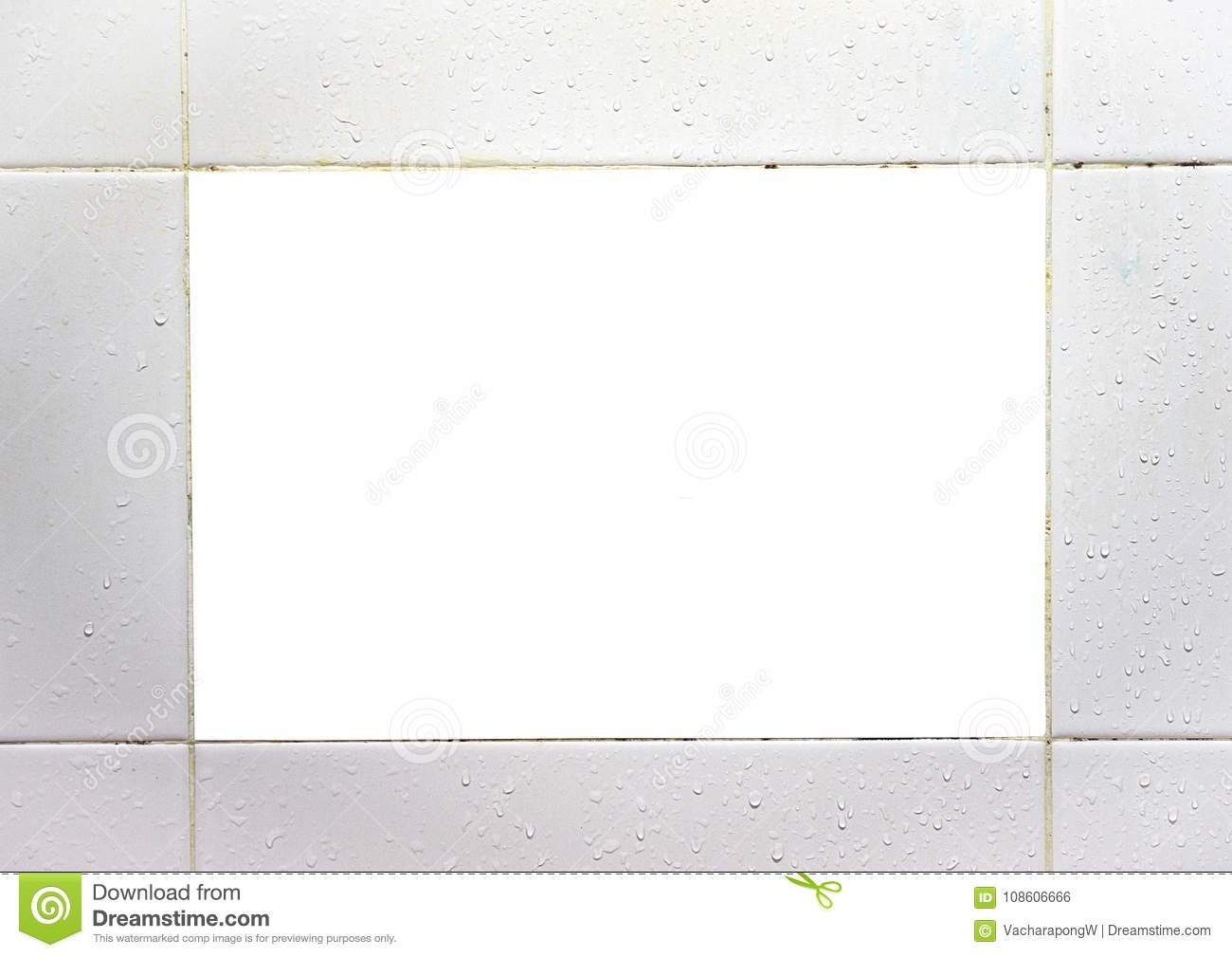 Whtie blank rectangle frame made of ceramic tiles stock photo whtie blank rectangle frame made of ceramic tiles dailygadgetfo Gallery