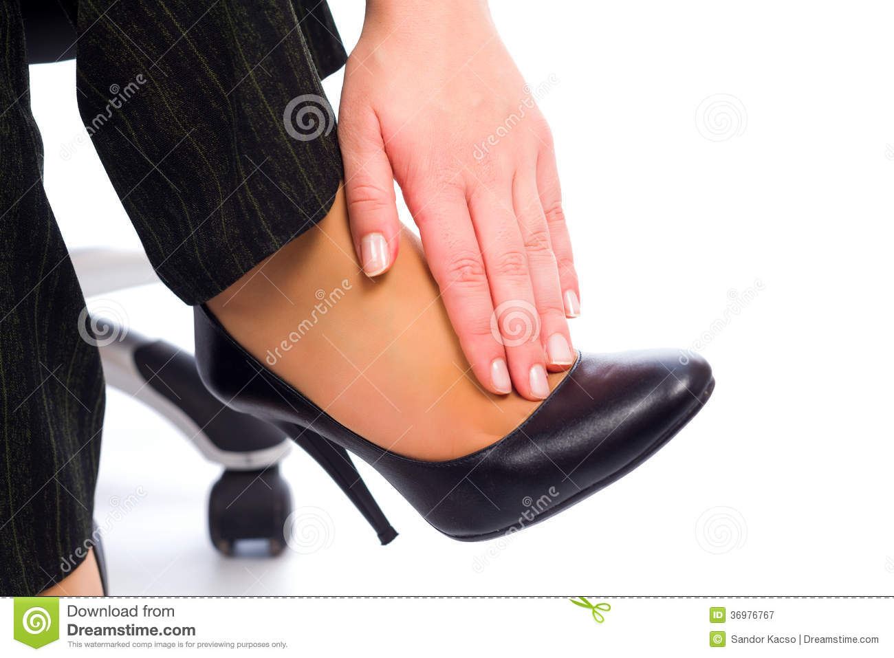 Why Do Women Wear High Heels If It Hurts? Stock Image ...