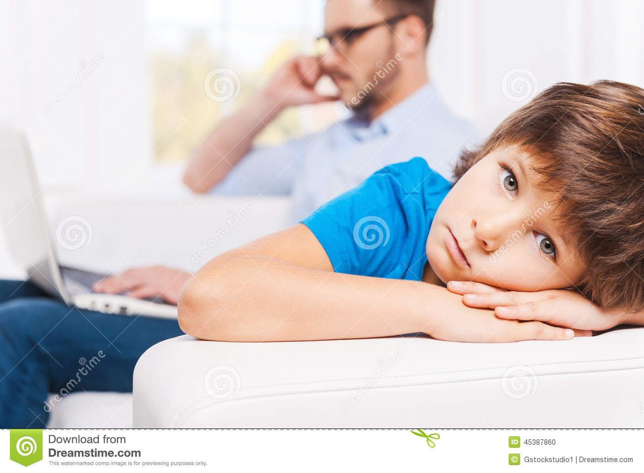 Why he always ignoring me? stock photo  Image of home - 45387860