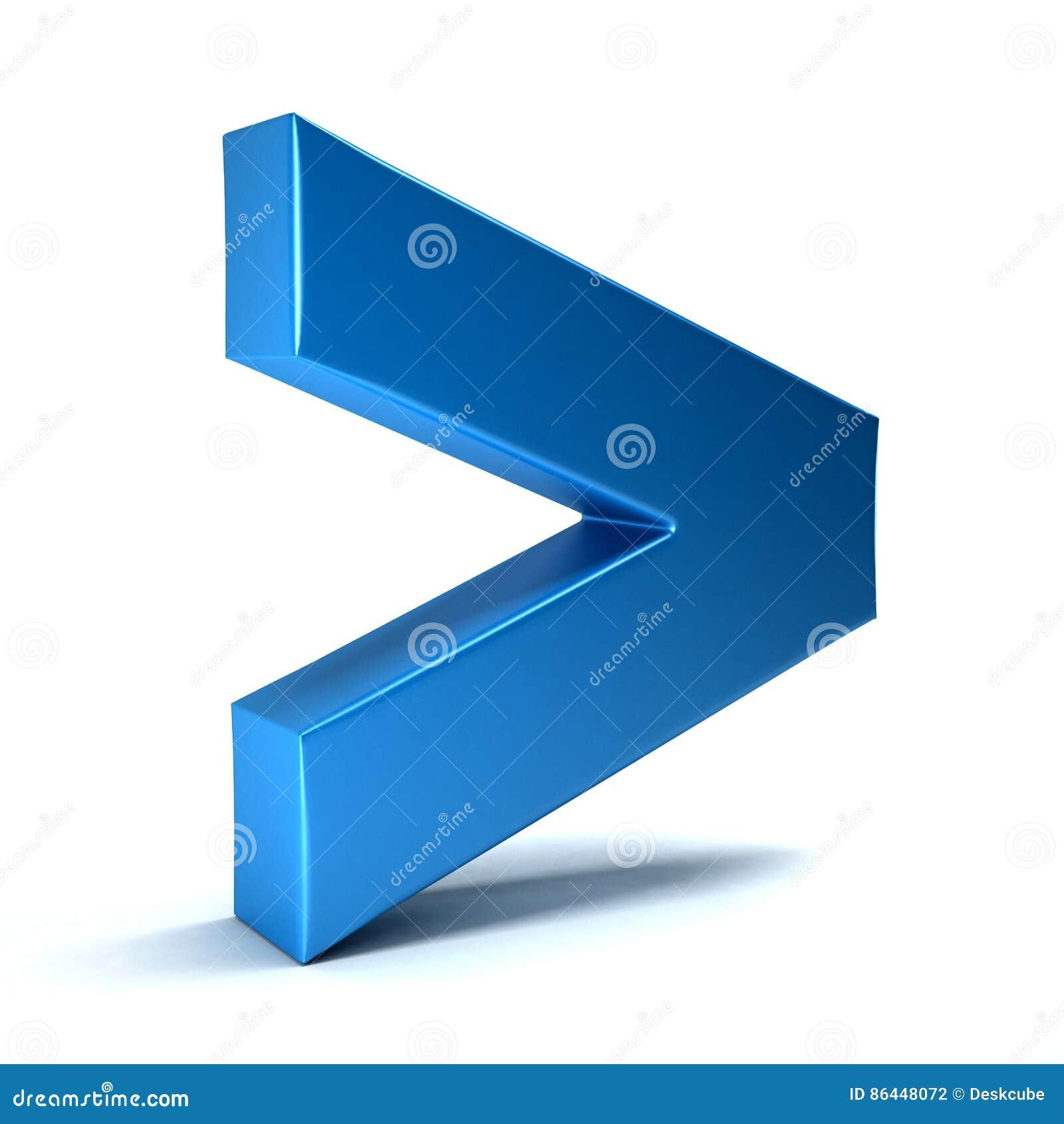 Większy Niż matematyka symbol