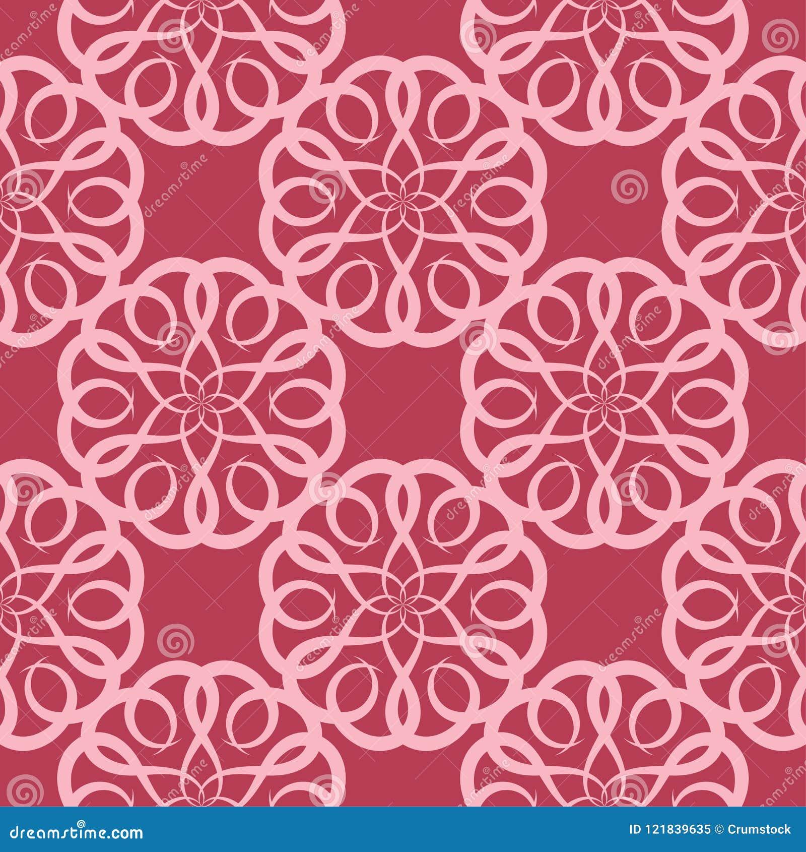Wiśnia różowy kwiecisty bezszwowy wzór