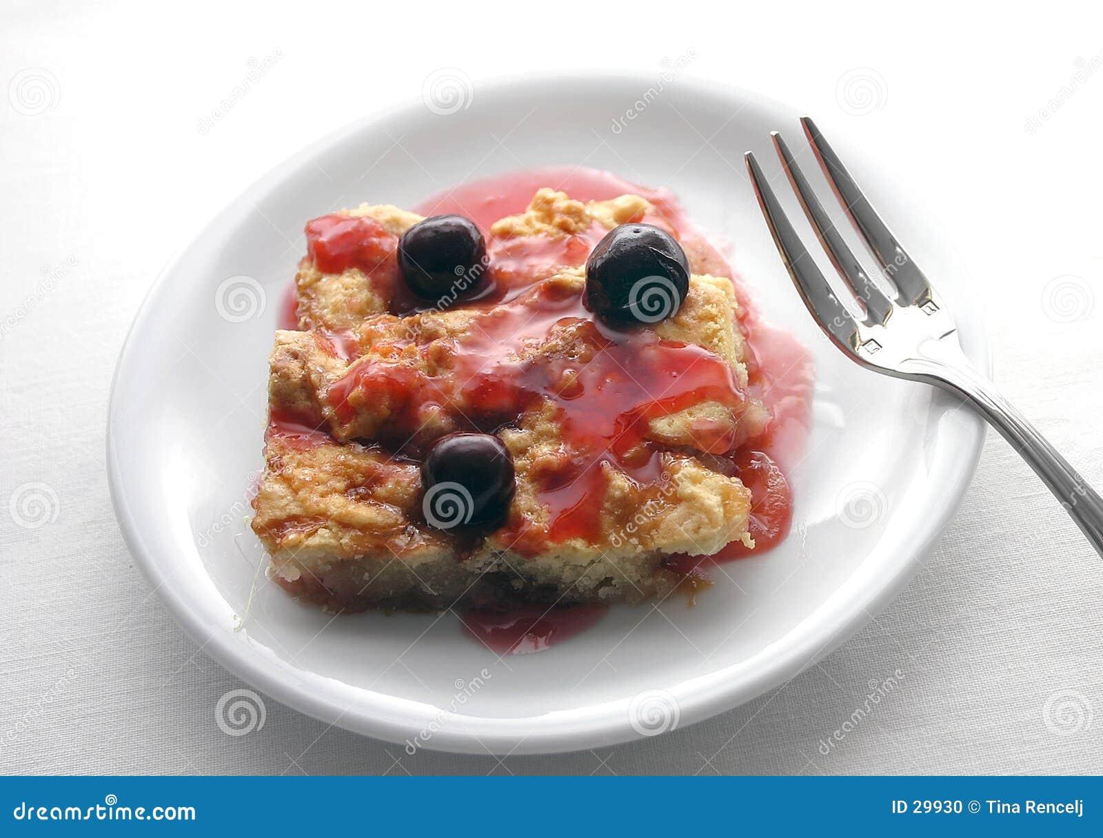 Wiśniowy placek to ciasto