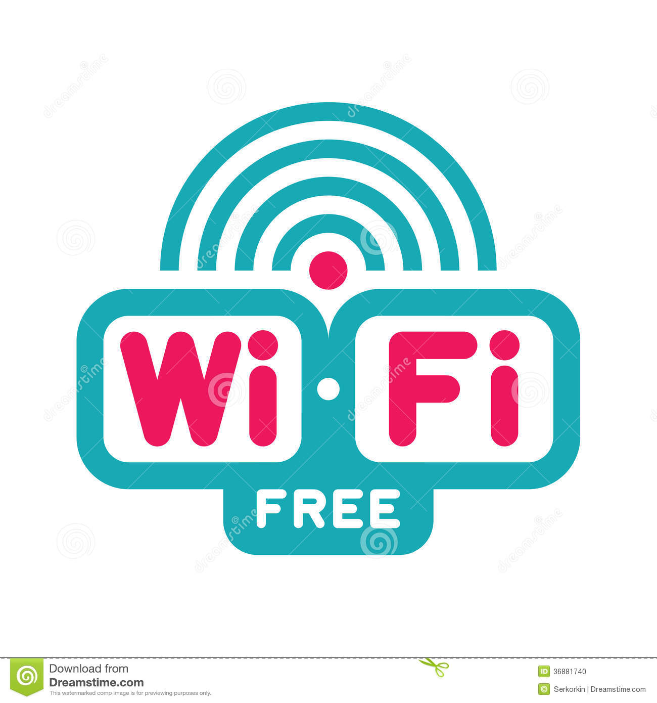Wi-Fi Free Zone - Vector Logo Sign Stock Photo - Image: 36881740