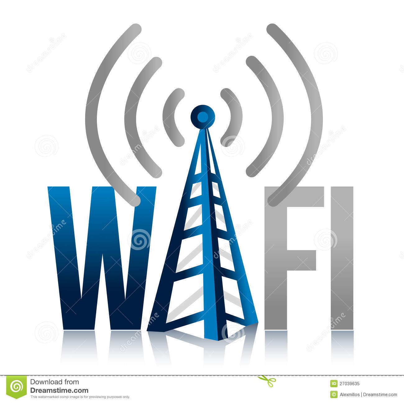 Wi fi tower illustration design sign royalty free stock for Architecture wifi