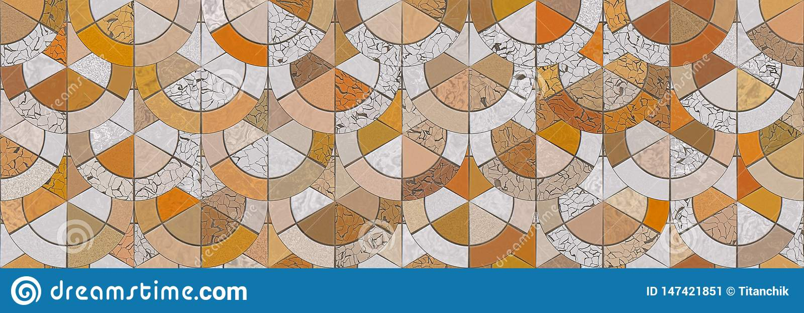 ?wiadczenia 3 d Abstrakcjonistycznej mozaiki architektury ceramiczny ?cienny t?o