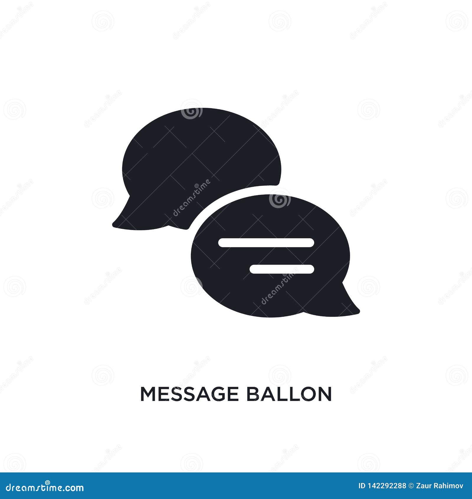 Wiadomości ballon odosobniona ikona prosta element ilustracja od ostatecznych glyphicons pojęcia ikon wiadomości ballon editable