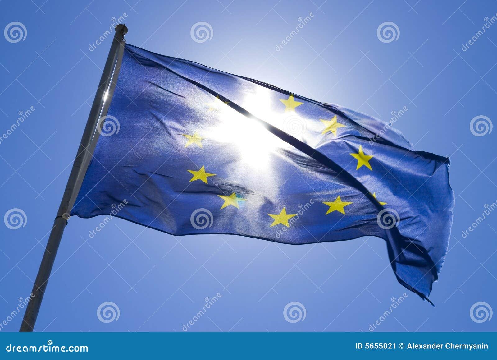 Wiatr flagi.