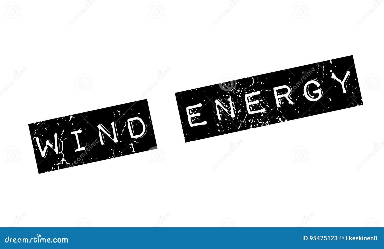 Wiatrowej energii pieczątka