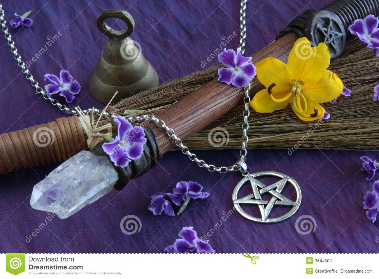 wiccan objects royalty free stock photos image 3644508