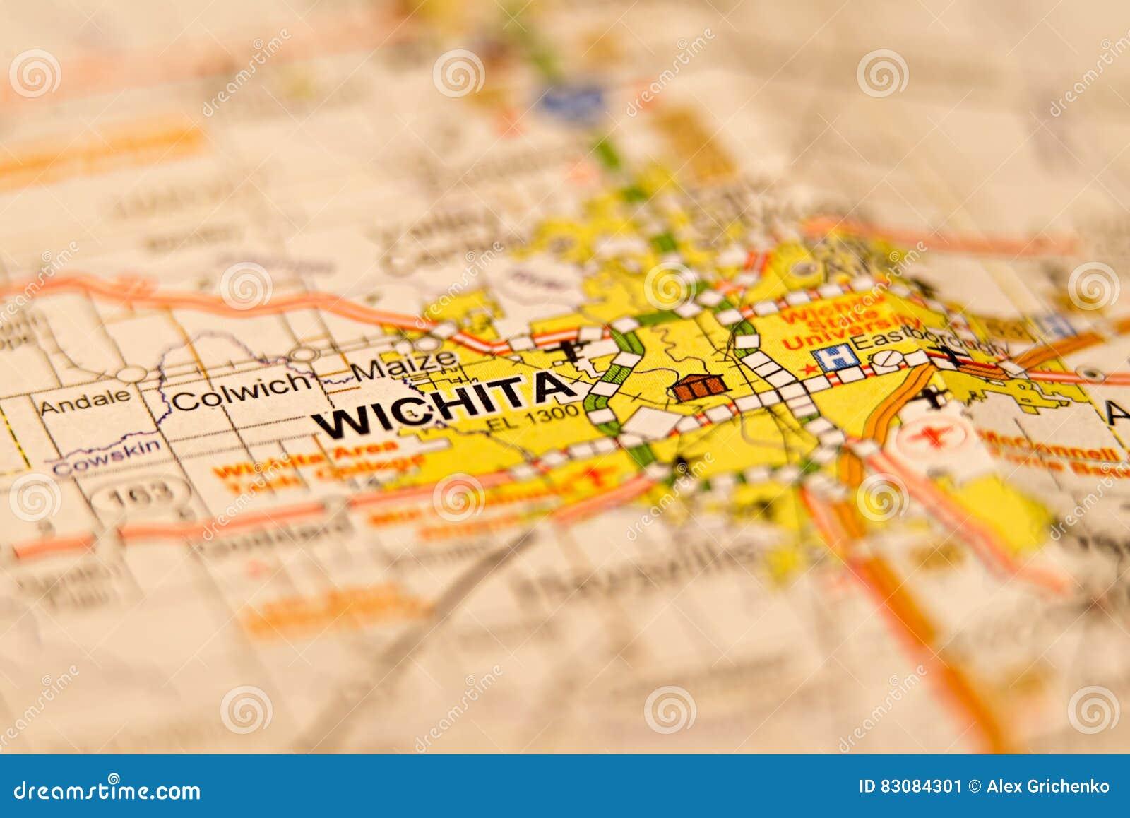 Wichita Kansas City Area Map Stock Image Image Of States