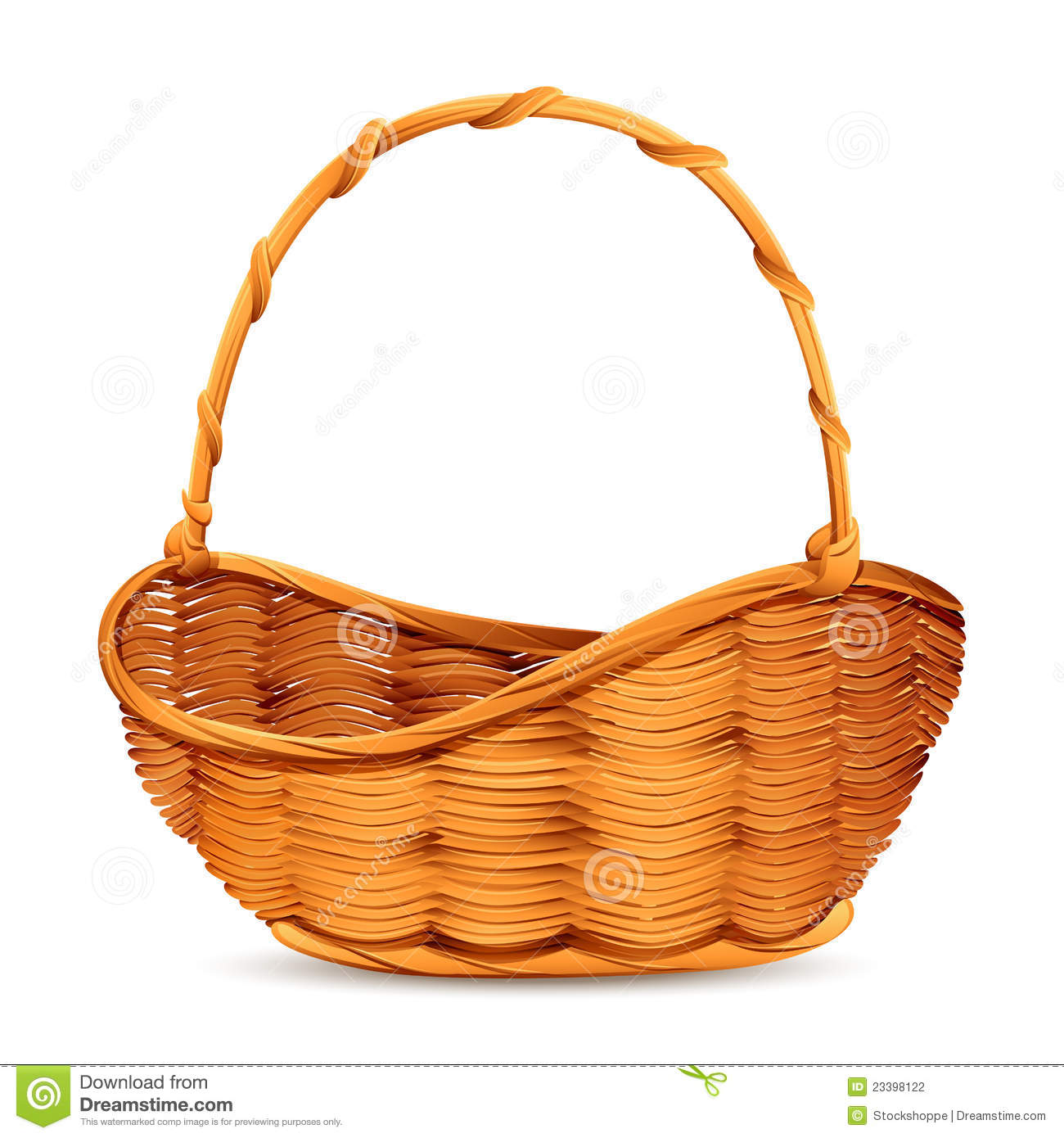Panier En Osier Wicker : Wicker basket stock photography image