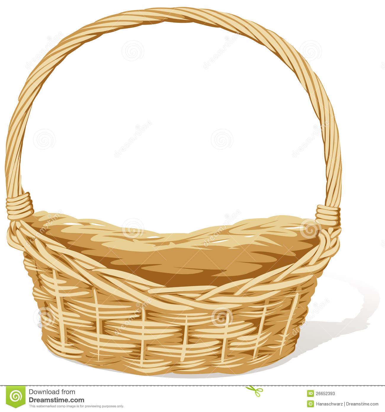 Empty Easter Basket Clipart Empty easter b Empty Easter Basket Clipart