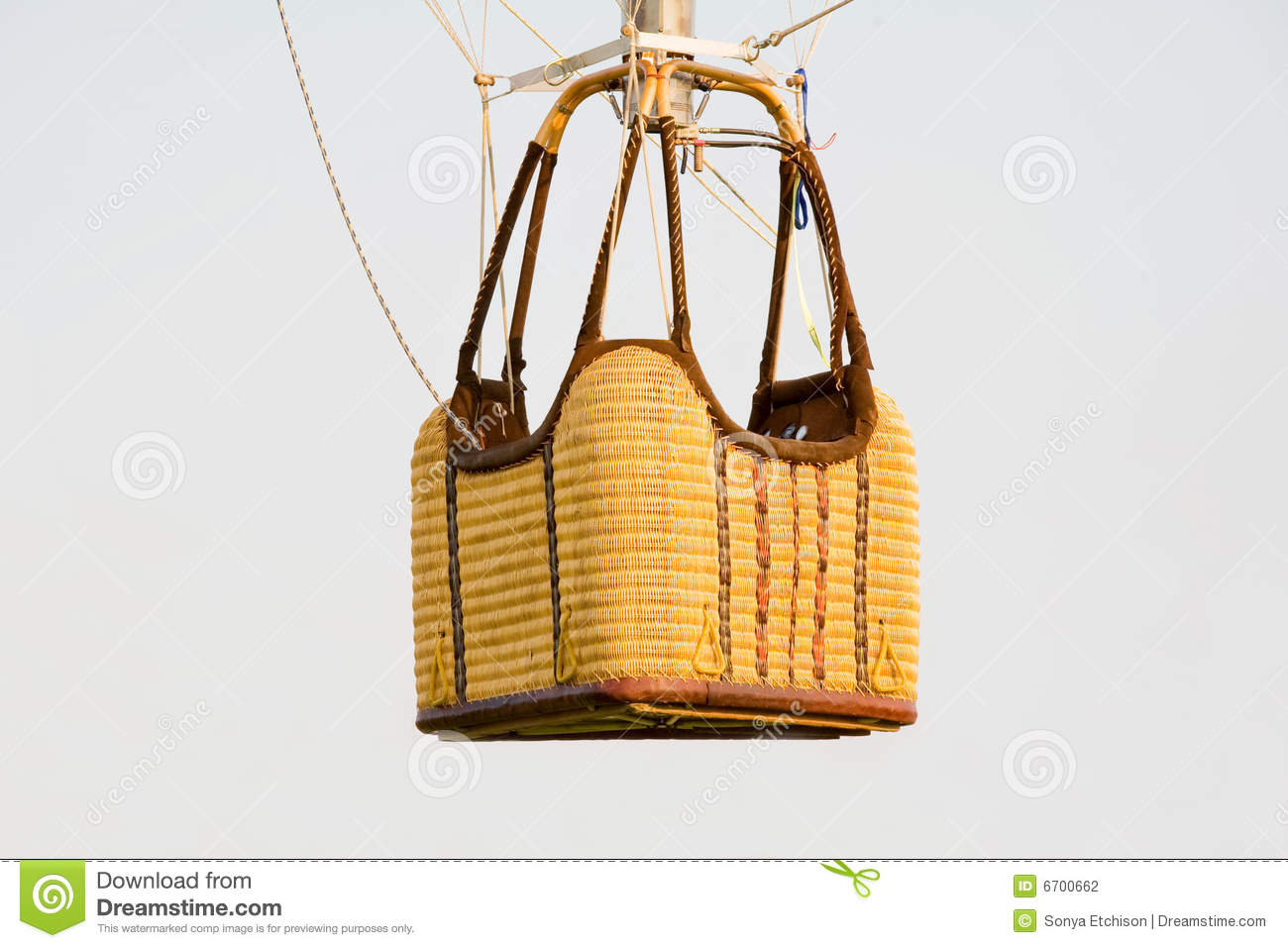 Wicker Basket stock photo. Image of white, isolated, empty ...