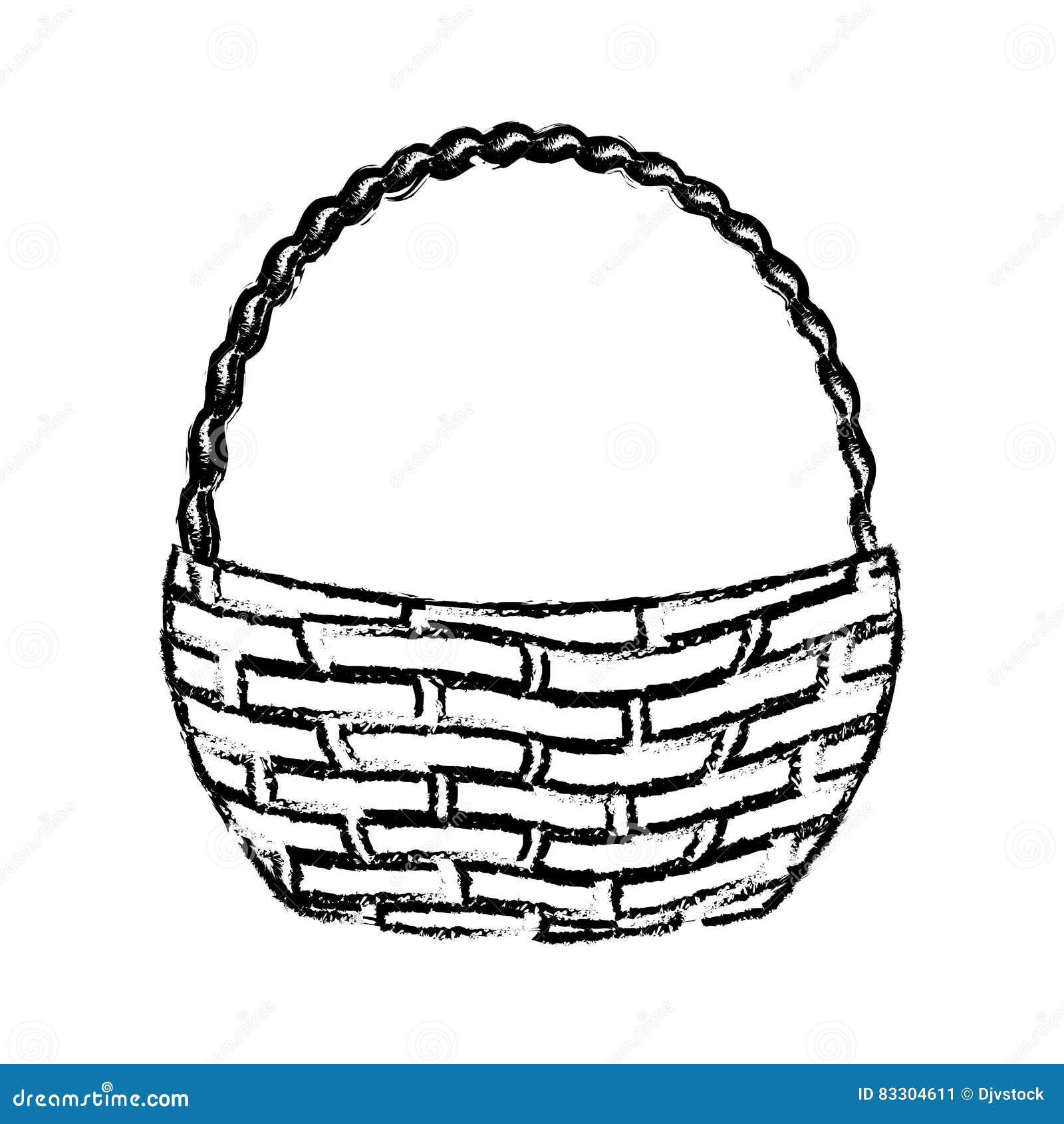 wicker basket icon stock illustration image 83304611. Black Bedroom Furniture Sets. Home Design Ideas