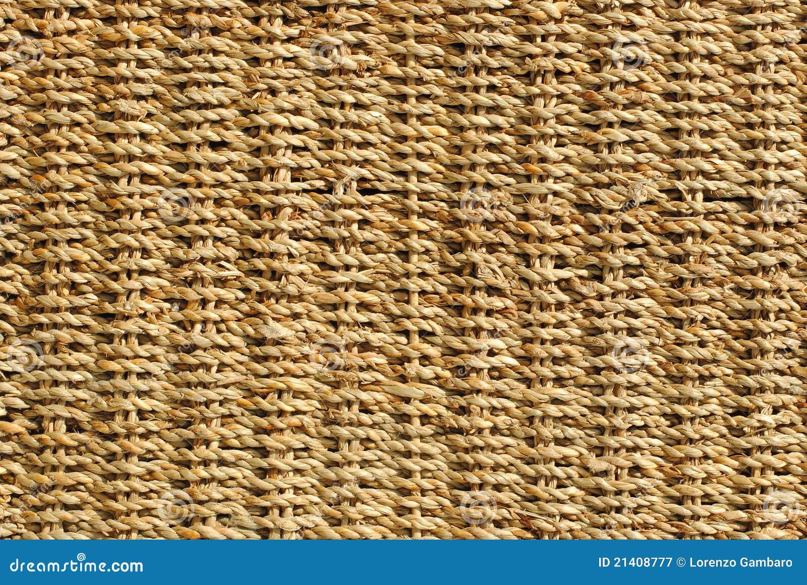 Wicker Basket With Original Pattern Royalty Free Stock