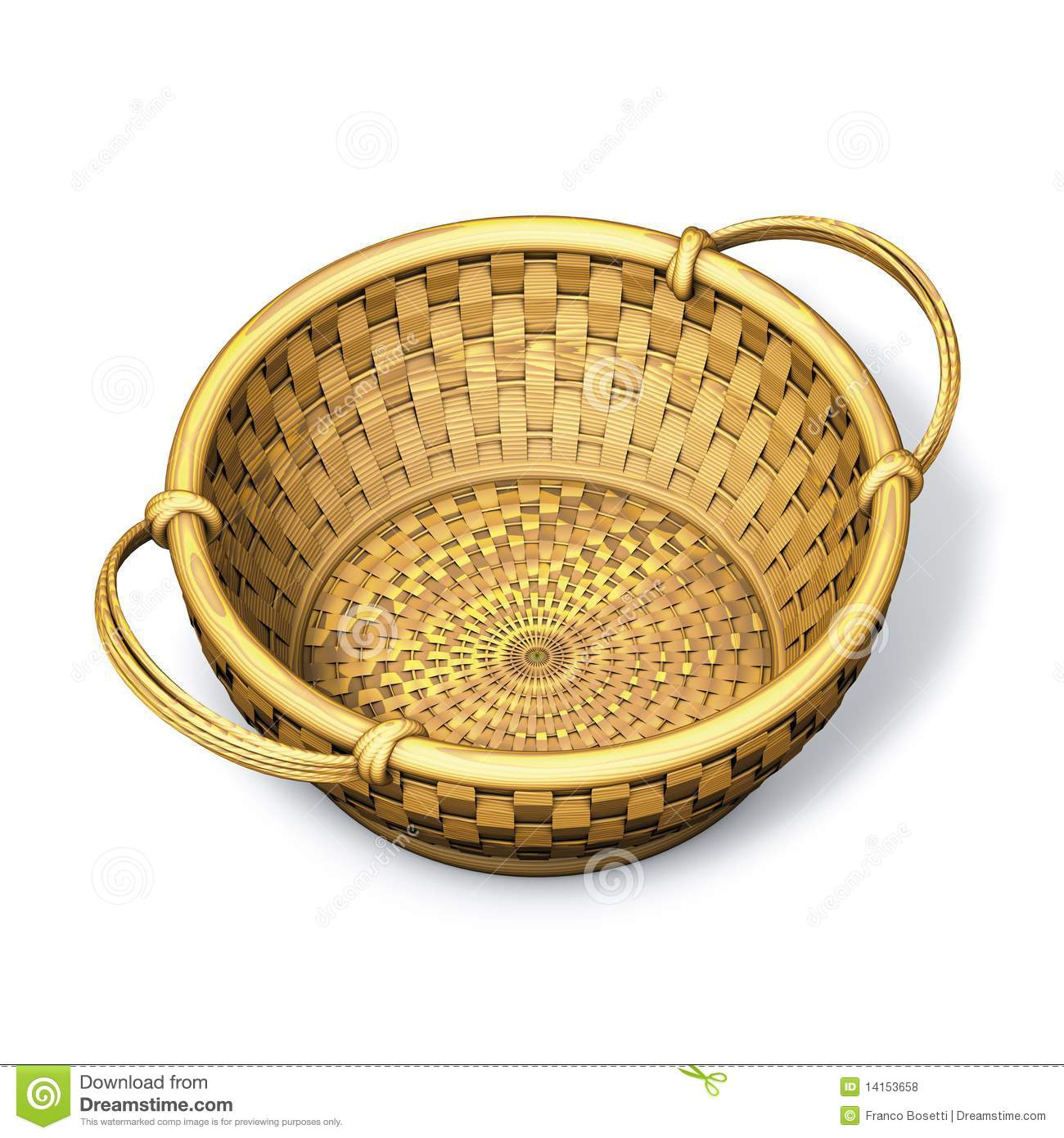 how to cut a hole in a wicker basket