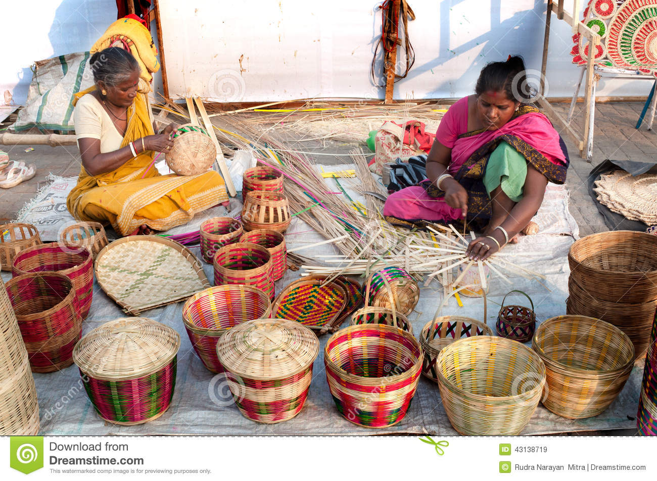 Wicker Baskets Indian Handicrafts Fair At Kolkata