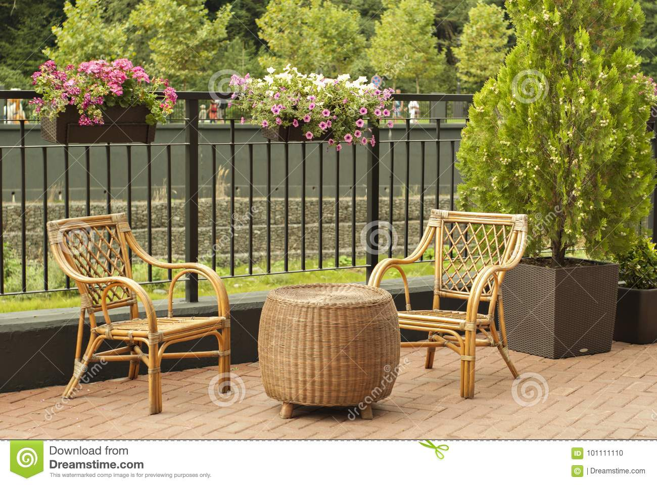 Picture of: Wicker Outdoor Furniture Stock Photo Image Of Chair 101111110