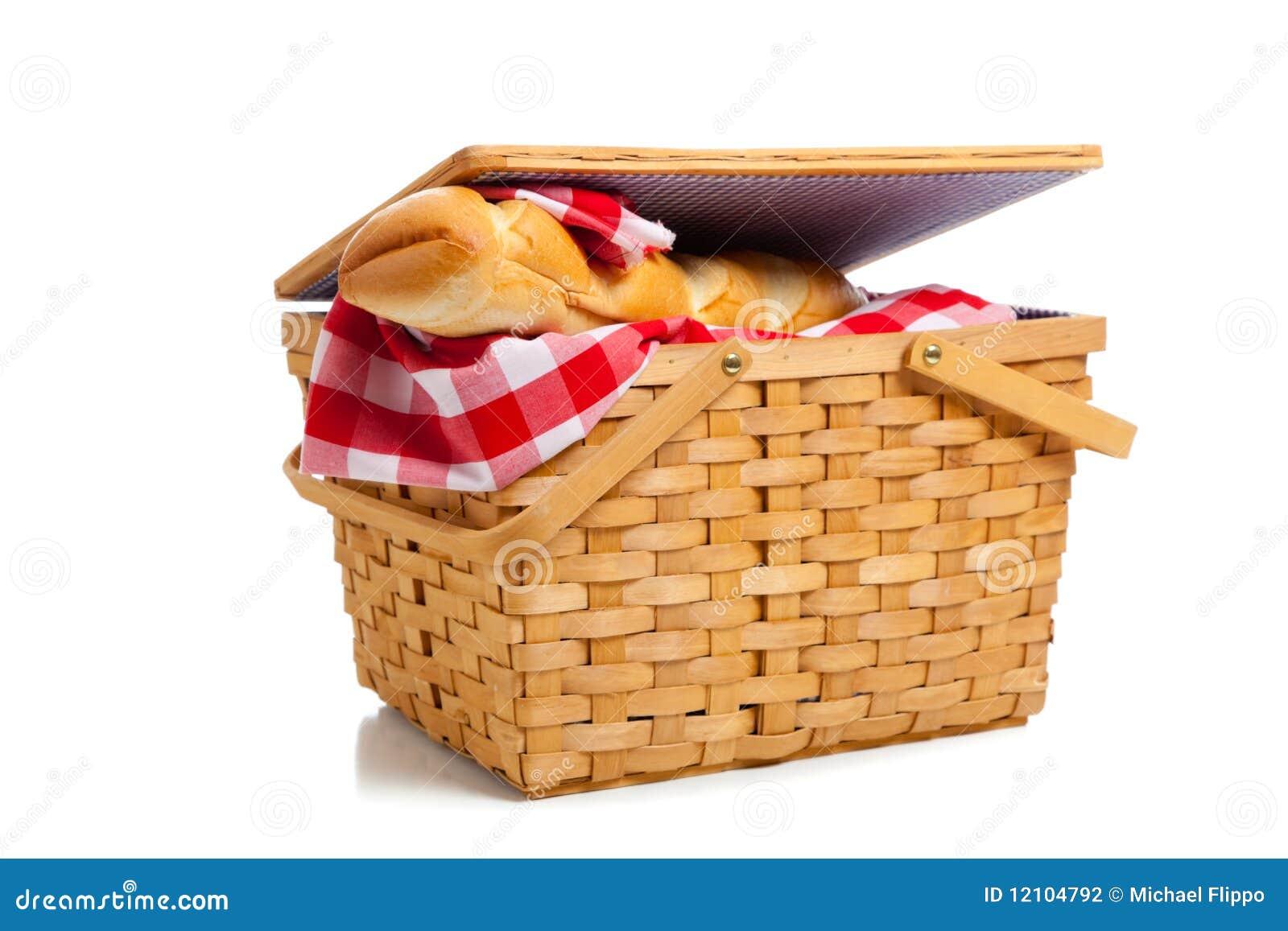 Wicker picnic basket w...