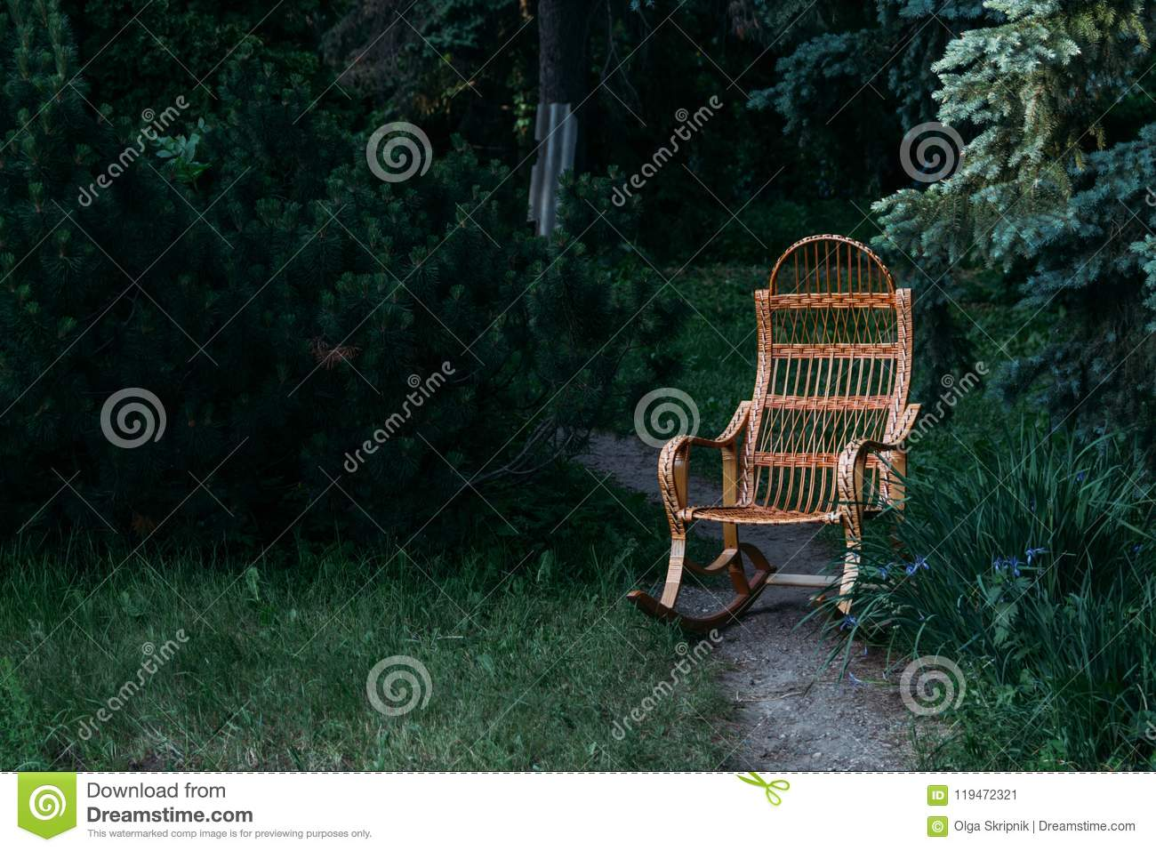 Wicker Rocking Chair Made Of Rattan Old Rocking Chair Made Of Wood