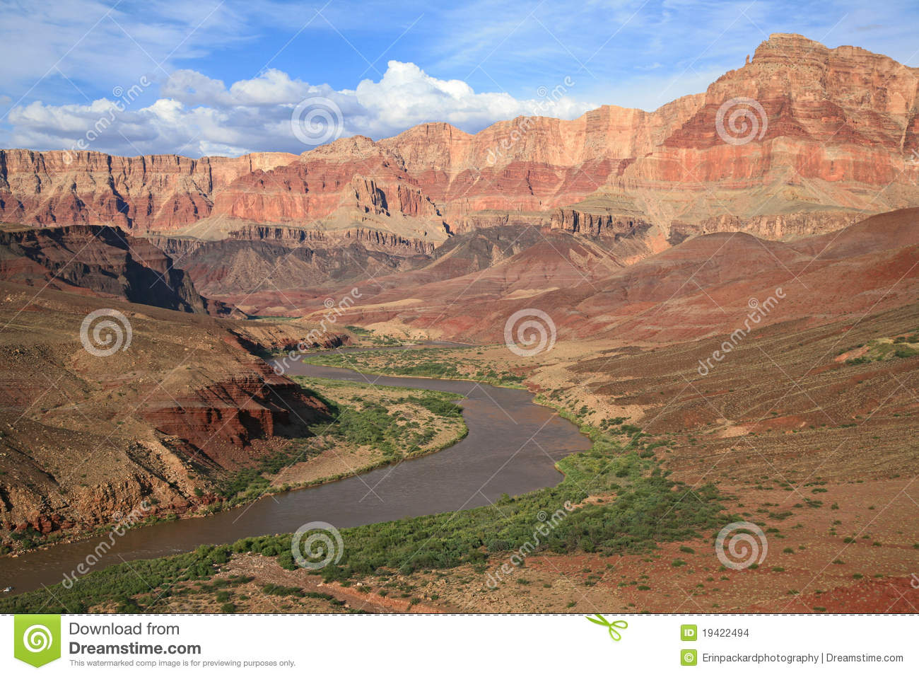 Fluss Durch Den Grand Canyon