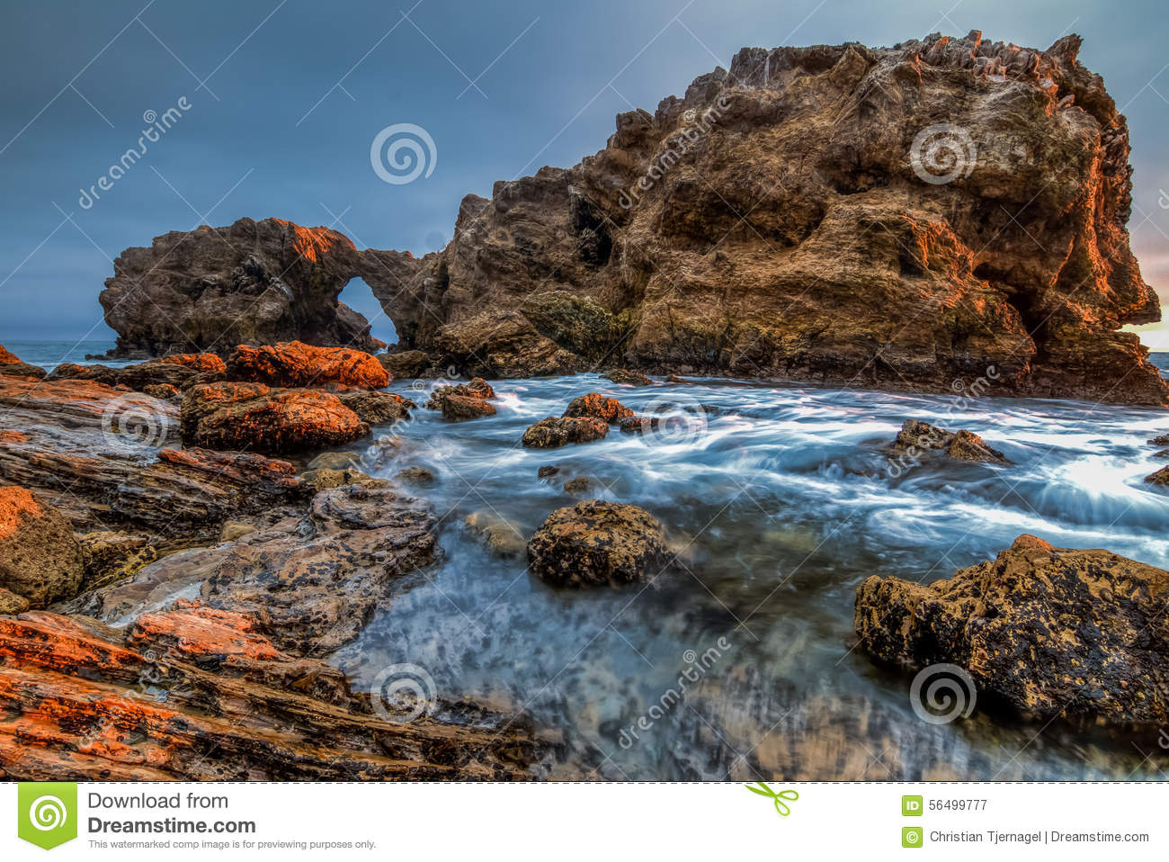 Landscape Boulders Orange County Ca : Sea cave with ocean wide view stock illustration cartoondealer